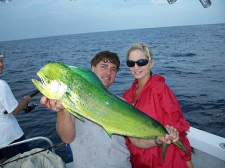 A 50lb dorado in the houston big game tournament was found for Deep sea fishing houston